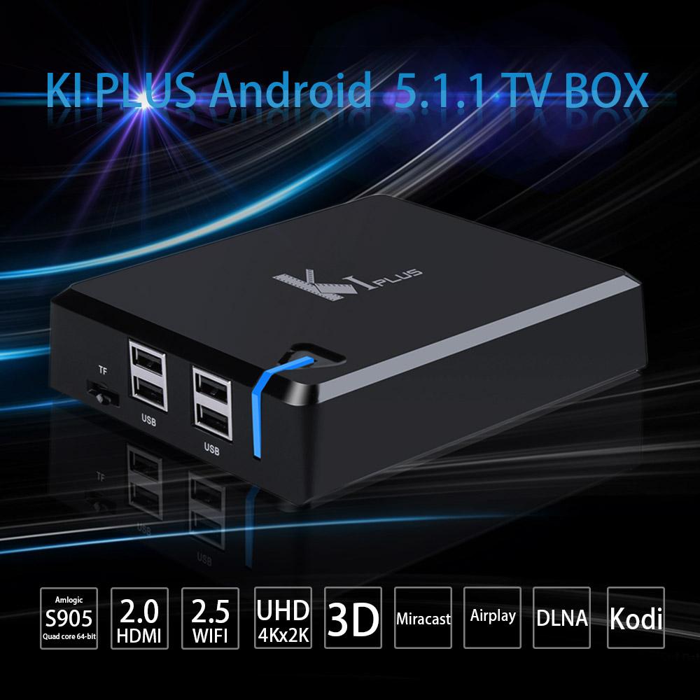 KI PLUS Android 5.1.1 Smart Android TV BOX Amlogic S905 Quad Core 64-bit 1G/8G UHD4K 3D HDMI2.0 Mini PC KODI XBMC Miracast DLNA<br><br>Aliexpress