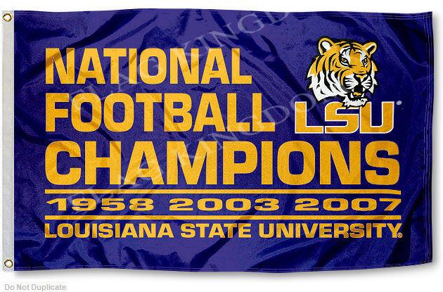 LSU Tigers Flag LSU 3 Time Champs Large 3x5(China (Mainland))