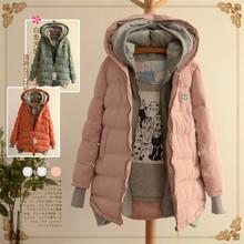 Chaqueta de invierno con capucha gruesa y algodón para mujeres