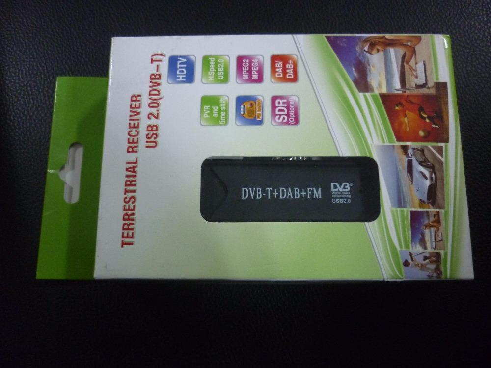 5pc/lot dhl free ship Mini Digital USB DVBT TV FM DAB Tuner DVB-T Receiver RTL2382U(China (Mainland))
