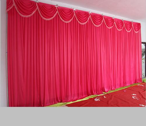 2016 Fashion Hot Pink Wedding Backdrop with Beatiful Swag Wedding Drape and Curtain Wedding Decoration Fast Delivery(China (Mainland))