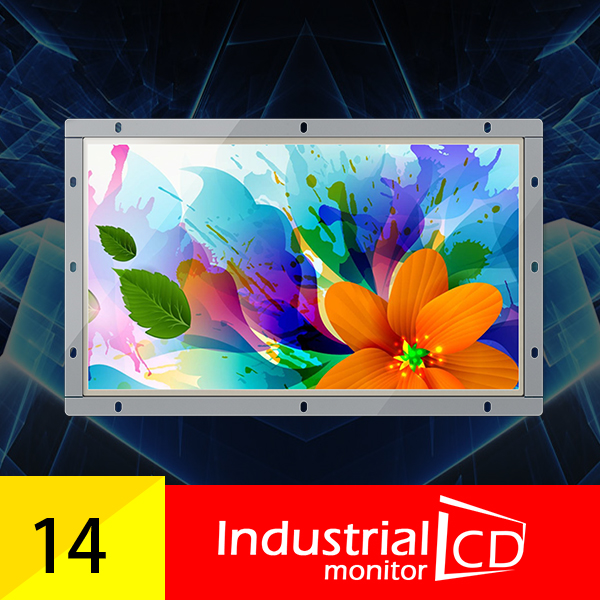 14 Inch Open Frame Monitor With High Brightness And 1366*768 Resolution / LCD Mnonitor With DVI Interface For Sale(China (Mainland))