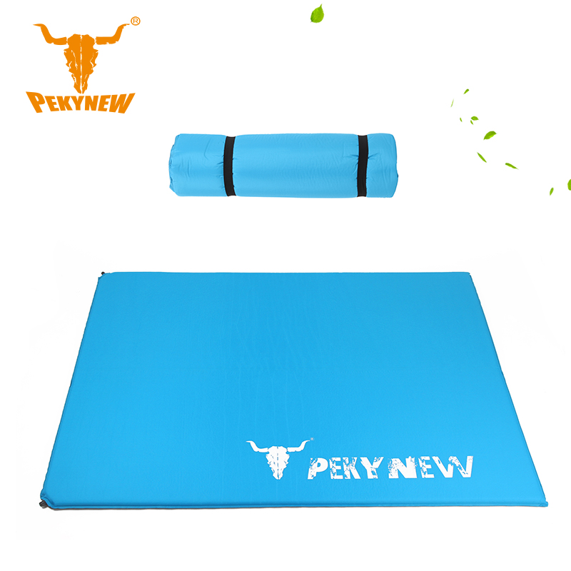 PKN-A1016 widening Double automatic inflatable cushion pad picnic mat camping 190x146x3CM(China (Mainland))