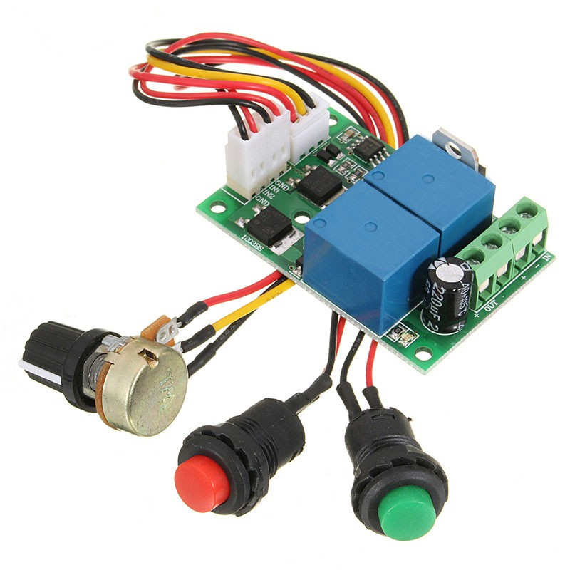 6V-24V DC Motor PWM Controller Electric Drive Pusher Linear Actuator Motor Speed Regulator with Button Positive Inversion(China (Mainland))