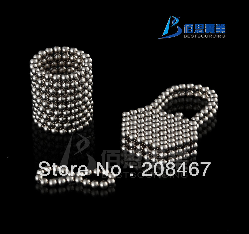 Top selling Free shipping 5pcs/lot 216 Silver D3mm Neocube Magnetic cube Neodymium magnet Magnetic balls(China (Mainland))