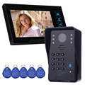 7 Inch Video Intercom with Doorbell Intercom Camera for RFID Access Control System 5 ID Card