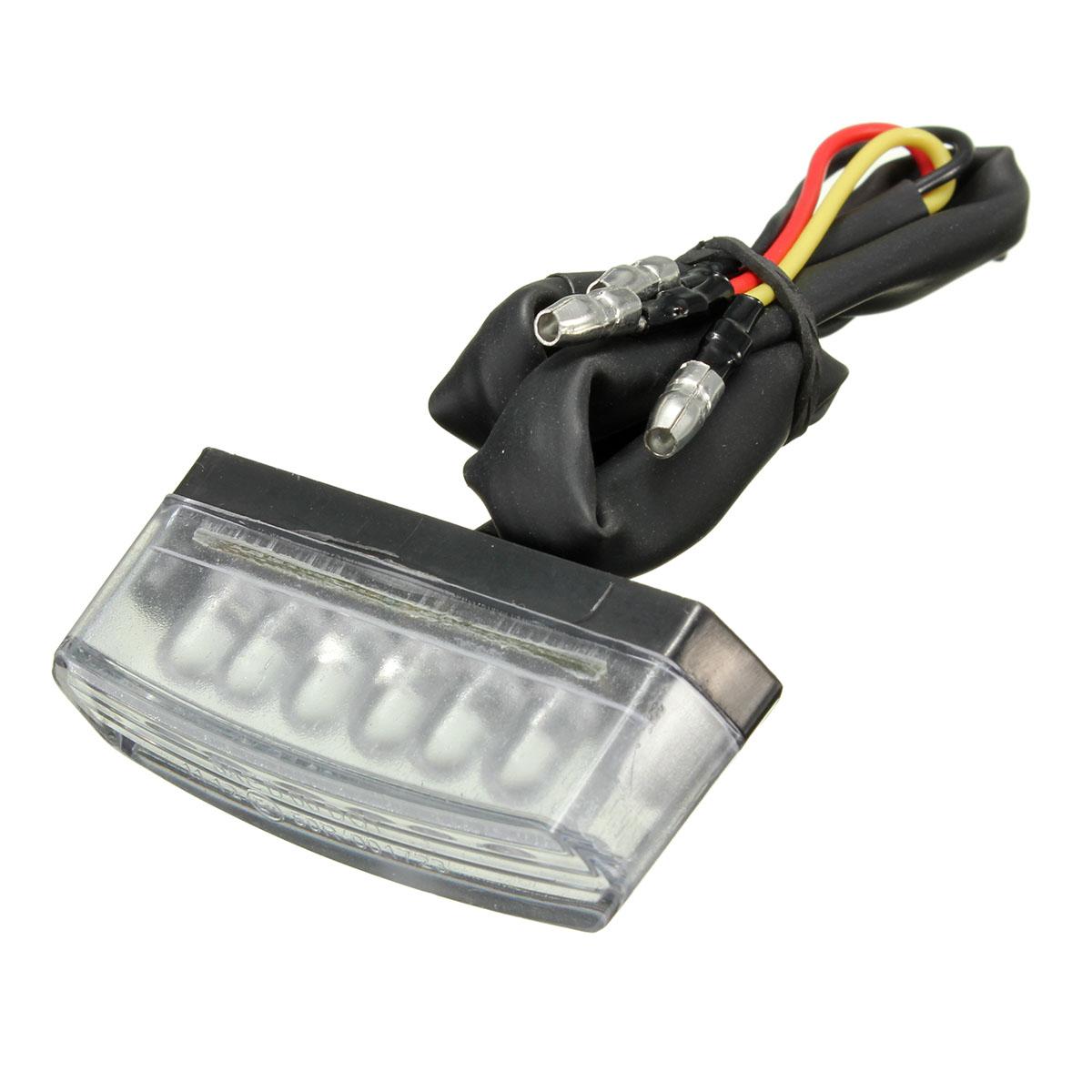 Universal 6 LED Motorcycle 12V Rear Number License Plate Light Red Lamp E mark E11 SAE