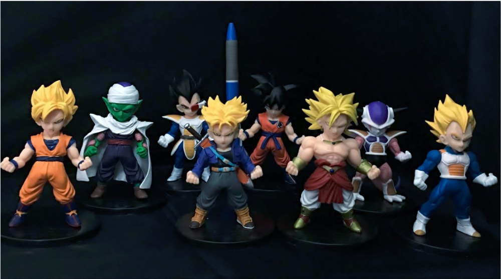 font b Anime b font Figure 8PCS SET Dragon Ball Z Son Goku Vegeta Piccolo