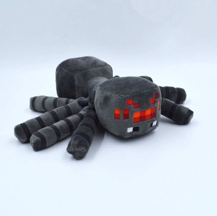 New arrival Large Size 30CM Cute Minecraft Animal Patterns Plush Soft Toys Stuffed Doll Plush Minecraft Spider Kids Gift Spider(China (Mainland))
