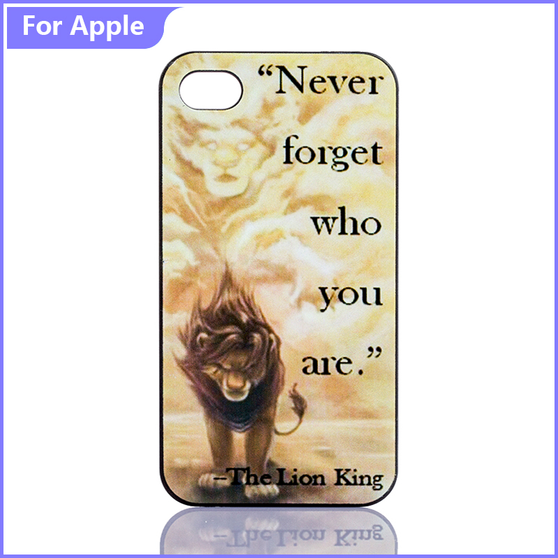 Phone Case iPhone 5 5S SE 6 6S Never Forget Lion King Cool Style Cartoon Paint Hard Protective Plastic Cover - FashionPhoneCase store