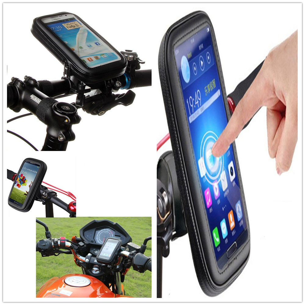 Universal Bicycle Frame Bike Mobile Phone Holder Waterproof Bag Case with Handlebar Bracket Mount Base for Samsung Xiaomi(China (Mainland))