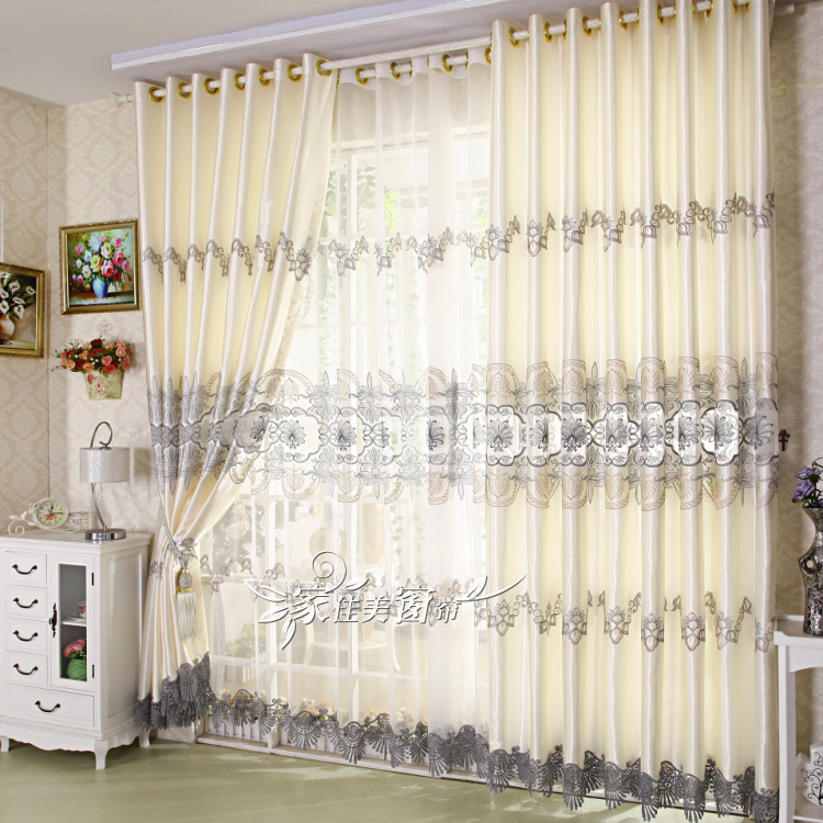 Quality Elegant Living Room Embroidered Curtains Free Shipping Incurtains From Home Garden On