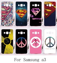 Superman America Captain Phone Cases For Samsung Galaxy A3 2014 A3000 A300F Cover Plastic and SiliconBack Protective Housing