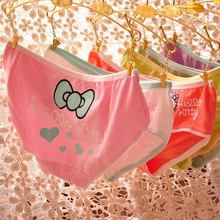Hot Sale Super Women Briefs Cotton Print Kitty Cute Girl Pink Panties Ropa Interior Bragas Mujer Lingerie Women Intimates U09