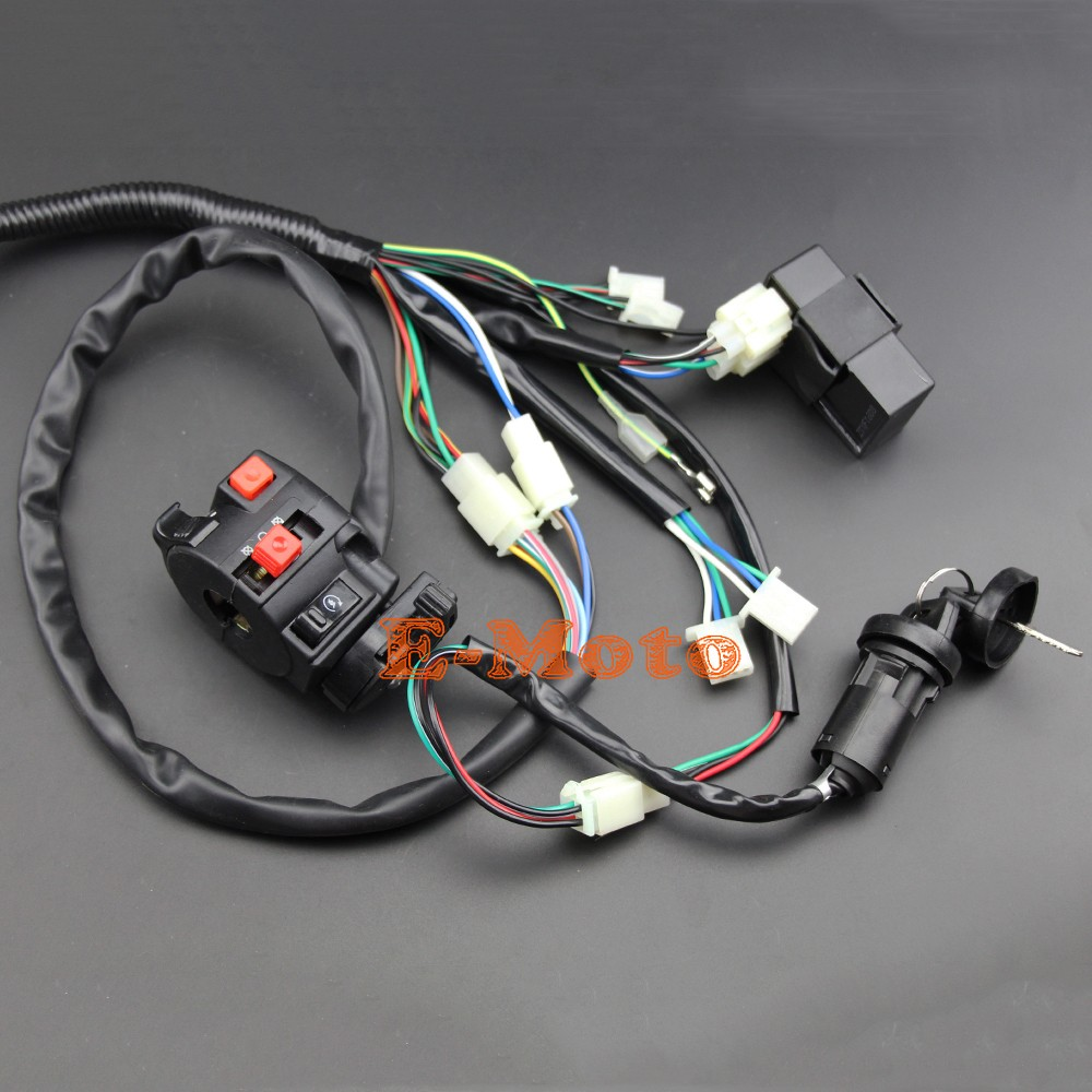 BUGGY WIRING HARNESS LOOM GY6 ENGINE 125 150CC QUAD ATV ELECTRIC START on