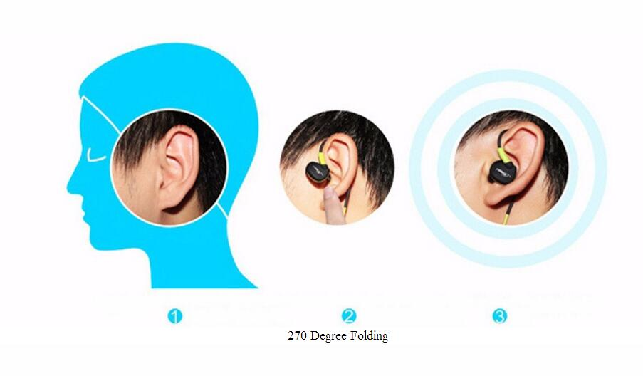 S500 3.5mm Wired Earphone Noice Cancelling In Ear Headset Stereo Headsets with Mic Waterproof Sweatproof Sport Earphones