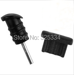 3.5mm Earphone Jack plug Dust Cap for Samsung Andriod mobile phone free shipping 600pcs=300pairs(China (Mainland))