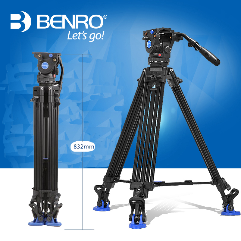 Product Details Title: Benro BV6 Video Tripod Professional Auminium Camera Tripods BV6 Video Head QR13 Plate Carrying Bag DHL(China (Mainland))