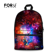 Stylish Children School Bags Galaxy Universe Space Stars Printed Backpack for Women Teenager Girls Canvas Schoolbag Kids Bookbag(China (Mainland))