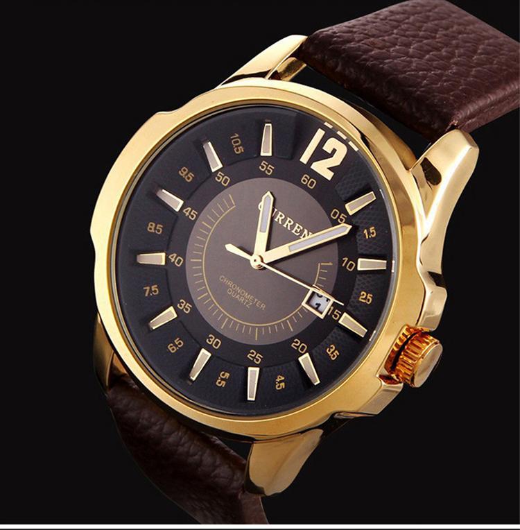 relogio masculino CURREN 8123 Luxury Brand Analog Display Date fashion Quartz watch Military Motion Men Leather Strap wristwatch(China (Mainland))