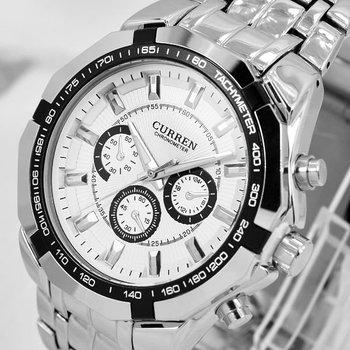 CURREN Brand Men military watch Fashion Clock Men Quartz men sports watches Casual Full Steel Men Watch Free Shiping Relogio