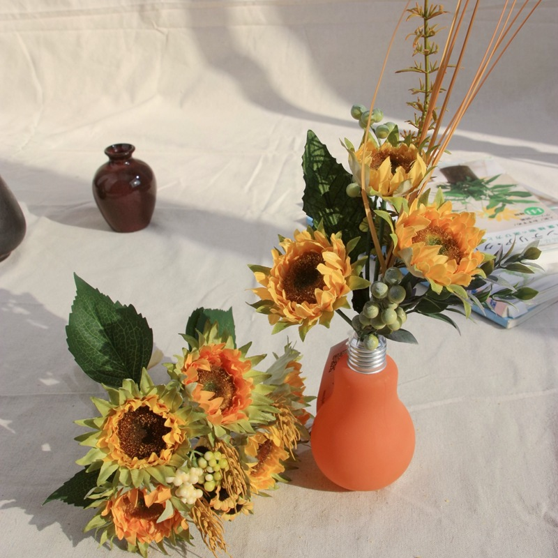 The Store Owner Recommended Artificial Flower Sunflower & Sun Chrysanthemum Set, Silk Flower Export Home&Wedding Decor(China (Mainland))