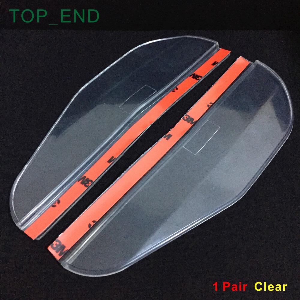 Безопасного вождения, Приют для автомобиля зеркала заднего вида w / 3 м лента, Темно-коричневый или ясно, Эффективно блок дождь из зеркало в дождливый день