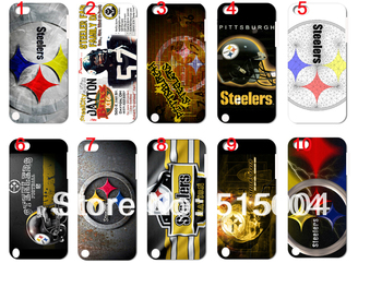new  design!steelers case hard back cover for ipod touch 5 10PCS/lot+free shipping