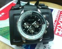 Relojes moda Punk Stlye hombres o señora reloj 7.5 CM ancho del manguito de cuero real, marrón / negro / color blanco reloj de cuero envío gratis