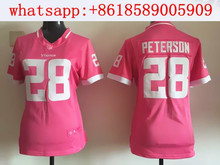 2016 hot selling for Women ladies all stitched PINK love Minnesota Vikings #5 Teddy Bridgewater 28 Adrian Peterson,camouflage(China (Mainland))