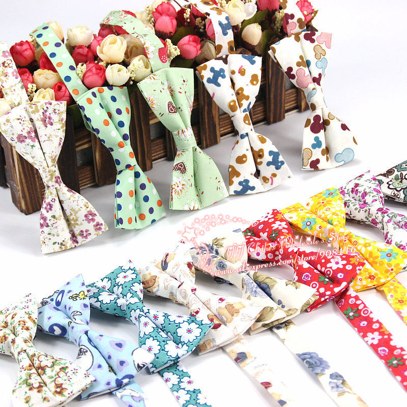 2016 Brand New Men's Fashion Printed Multi-color Flower Formal Bow Ties Man Luxury Neck Bowtie Bowknot Necktie Luxury Butterfly