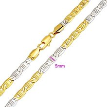NEW ARRIVAL!!! 24KGP YELLOW GOLD & PLATINUM 450MM CHARM CHOKERS NECKLACES, COME WITH A FREE GIFT BOX!  (RZ0670-FC305)(China (Mainland))