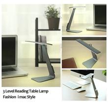 Eye-Protection Portable Desk Lamp Ultra-thin with 24 LED,3 Level Table Lamp of  Brightness Night Light Mac Style(China (Mainland))