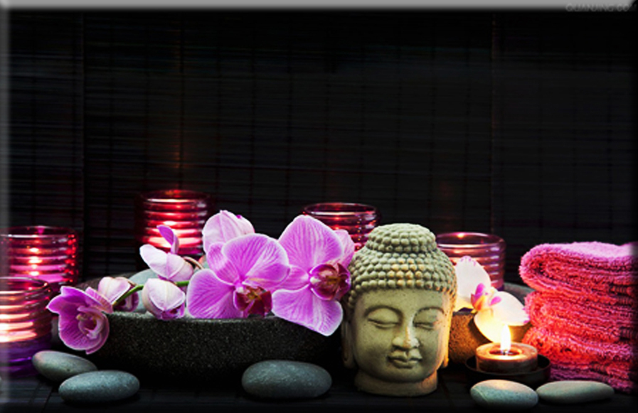 1pcs led lights free shipping Wall Art with LED Canvas Print,buddha candle paintings light up,stretched and framed art work(China (Mainland))