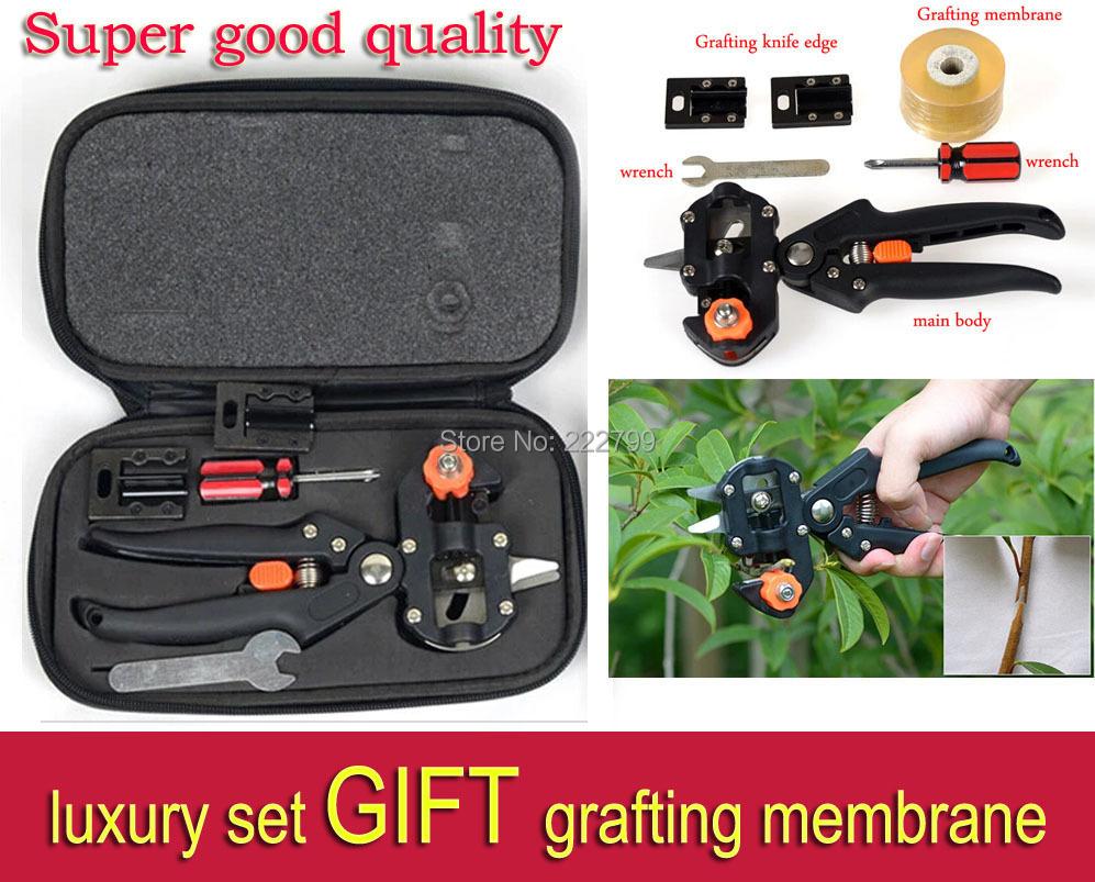 Super good quality Garden Fruit Tree Pro Pruning Shears Scissor Grafting cutting Tool + 2 Blade 35 Send grafting membrane <br><br>Aliexpress