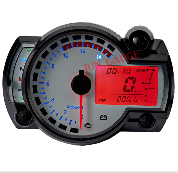Universal digital LCD speedometer motorcycle tachometer for 1, 2 and 4 cylinders(China (Mainland))