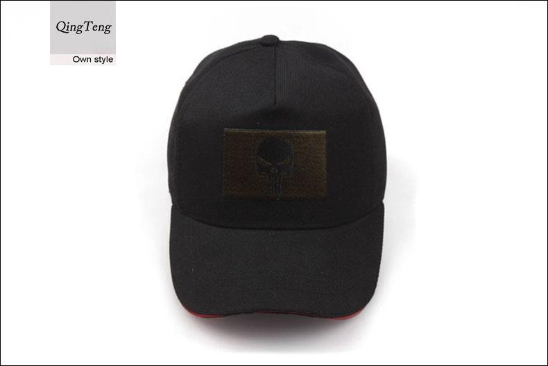 3a687bd4710 Black Men Army Baseball Cap Skull Logo Tactical Cap Seal Team ...