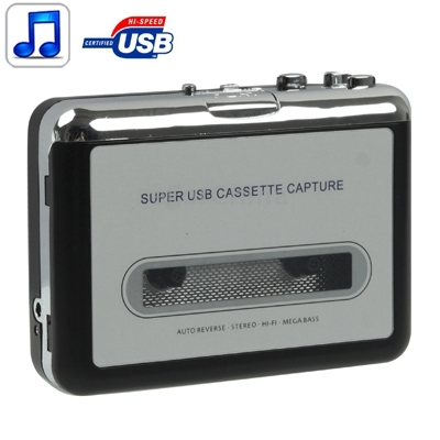 Tape to PC Super USB Cassette to MP3 Converter Capture Audio Music Player(China (Mainland))