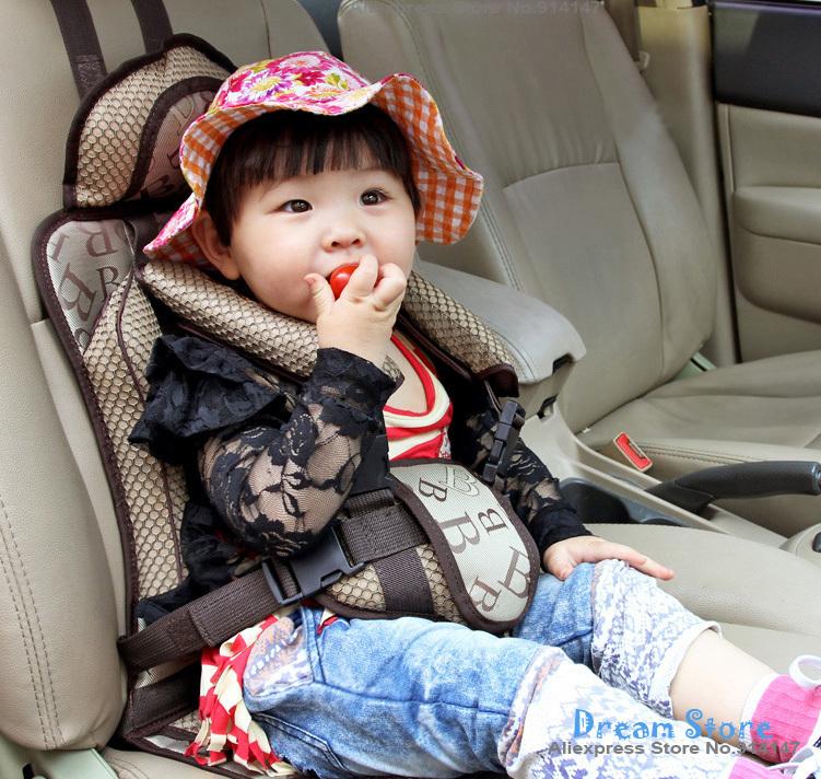 Детское автомобильное кресло, хорошее качество, портативное, для защиты ребенка, коричневый цвет