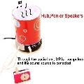 USB 2.0 HUB products Pen box + speaker + Night Light + HUB 4in1(China (Mainland))