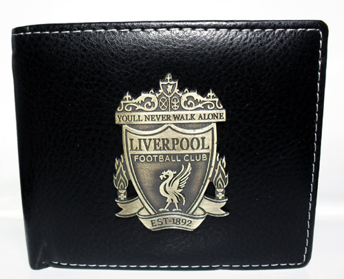 Fans supplies embossed metal card leather wallet wallet liverpool wallet