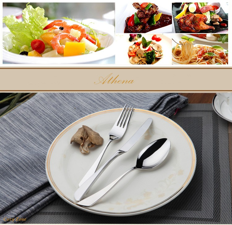 Buy Stainless Cutlery 24Pcs Flatware Sets Stainless Steel Restaurant Kitchen Wedding Dinner Beautiful Dinnerware Tableware Knife cheap