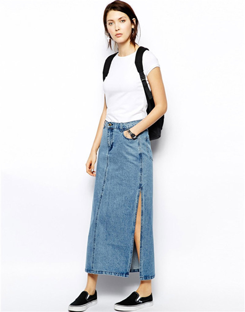 Long jean skirts 2015 – Modern skirts blog for you