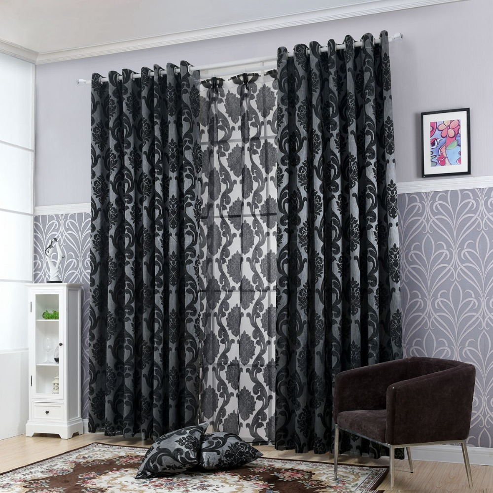 Geometry curtains for living room curtain fabrics window curtain panel semi-blackout bedroom curtains(China (Mainland))
