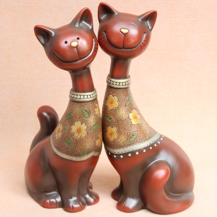 .com : Buy Lucky cat lovers wine decorations wedding gift ideas ...