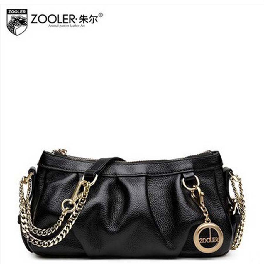 zooler zhuer 2016 dumplings bag genuine leather women's handbag casual one shoulder cross-body women bags female