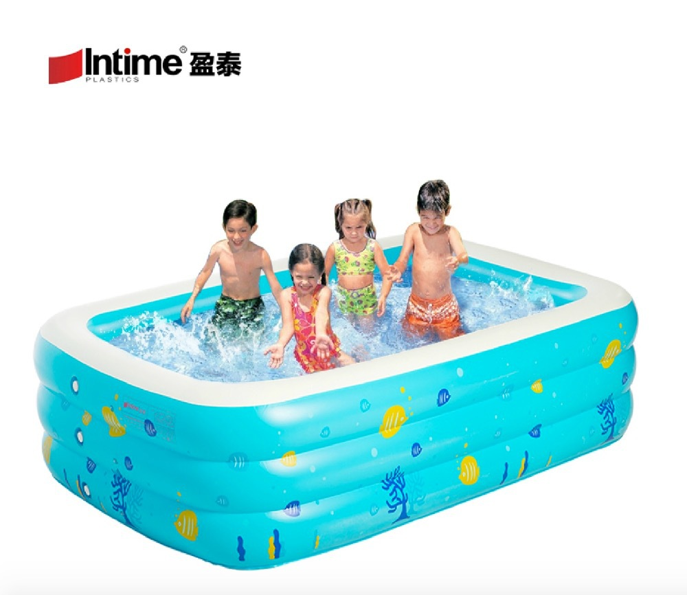 305*183*60cm,free shipping,with electric pump inflatable swimming pool super large pool thickening paddling pool adult bathtub(China (Mainland))