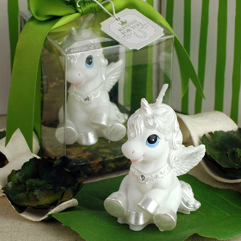 Creative White Flying Horse Smokeless Candle Birthday And Wedding Party Cake Candle Home Supplies(China (Mainland))