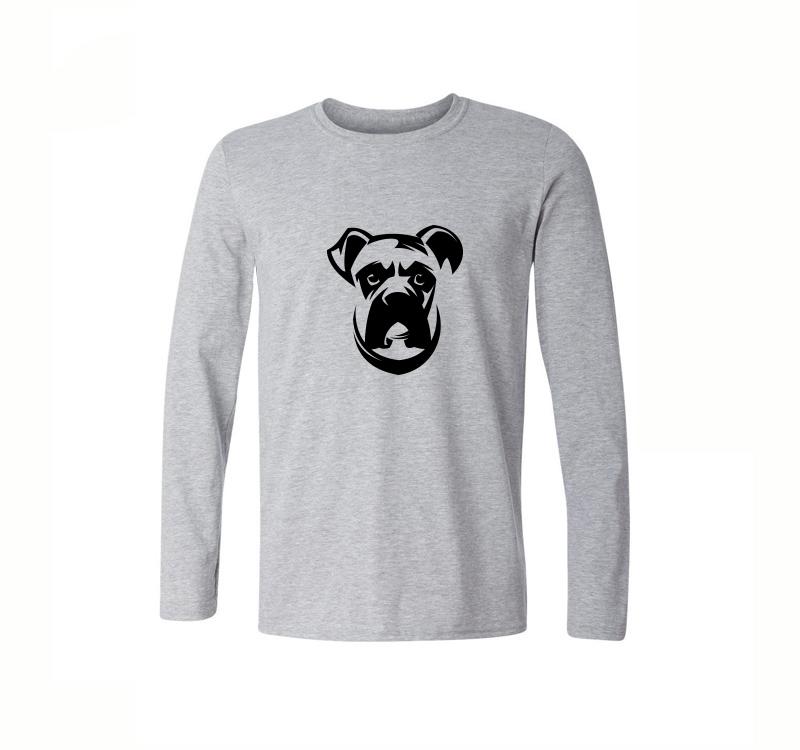 Cute Shar Pei Printed T Shirt Men Casual Long Sleeve Cotton T Shirt ...