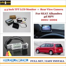 4.3 inch TFT LCD Monitor + Car Rearview Back Camera = 2 1 Parking System - SEAT Alhambra 4d MPV 2001~2002 Xi DaDa Store store